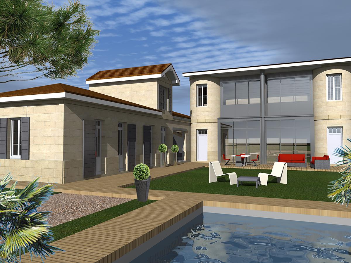 Renovation restructuration maison bordeaux 2017 marie for Architecte renovation maison