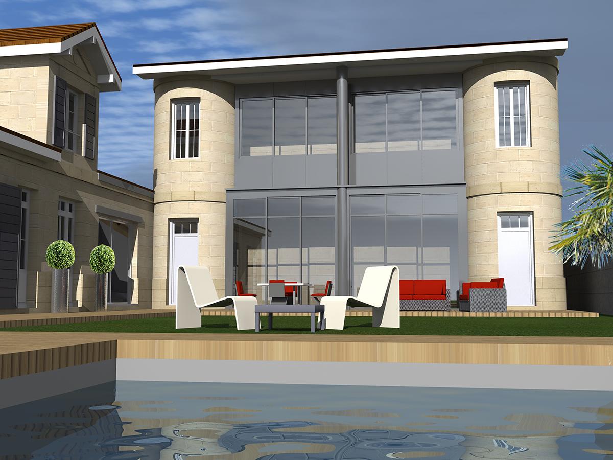 renovation restructuration maison bordeaux 2017 marie pierre amar architecte marie pierre. Black Bedroom Furniture Sets. Home Design Ideas