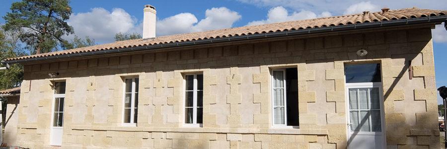 Restructuration maison pierre, Le Pian Médoc (2017)
