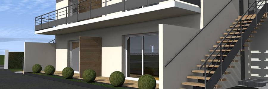 4 logements collectifs, Margaux (2018)
