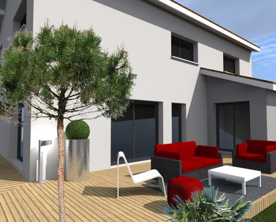 Extension restructuration maison individuelle, Le Bouscat (2019)